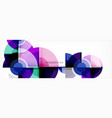abstract background - multicolored circles trendy vector image