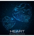 Abstract technology heart vector image vector image