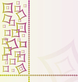 abstract textile background with square vector image