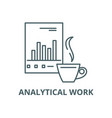 analytical work line icon analytical work vector image