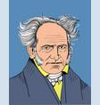 arthur schopenhauer vector image vector image