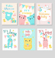 bashower invitation template set vector image