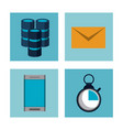 big data technology icons vector image vector image