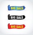 big sale sign set vector image vector image
