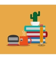 books office related items icon vector image vector image