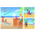 businessman summer relax color vector image vector image