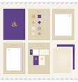 Castle Brand-book Template vector image vector image