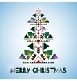 Christmass Tree on the blue background vector image vector image