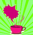 coffee poster pop art style vector image vector image