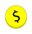 coin with a dollar sign vector image