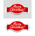 congratulatory text on the label vector image vector image