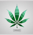 cut out cannabis leaf silhouette cut out paper vector image