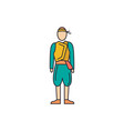 cyprus man costume icon cartoon style vector image vector image