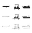 design goods and cargo icon collection vector image vector image