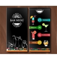 Design menu for cocktail bar in the corporate vector image