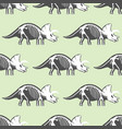 dinosaurs skeletons silhouettes seamless pattern vector image vector image