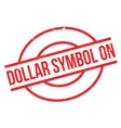 Dollar Symbol On rubber stamp vector image