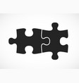 double piece flat puzzle two section compare vector image vector image