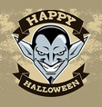 Dracula Head Halloween Badge vector image vector image