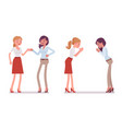 female partners greeting vector image