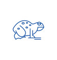 frog line icon concept frog flat symbol vector image vector image