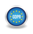gdpr - general data protection regulation vector image