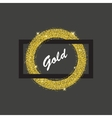 gold ring frame vector image