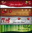 greeting-banners vector image vector image