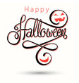 halloween card light red vector image