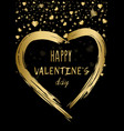 happy valentines day poster decorative glitter vector image vector image
