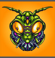 head robot grasshopper cyber vector image