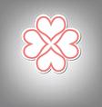heart flower symbol design vector image vector image