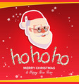 ho-ho-ho phrase sign merry christmas vector image