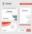 hook logo calendar template cd cover diary and vector image vector image