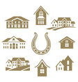 house luky set white vector image vector image