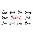 love lettering overlay set handwritten words vector image vector image