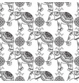 mehndi indian henna tattoo seamless pattern with vector image vector image