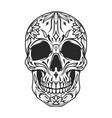 mexican sugar skull monochrome concept vector image vector image