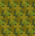 Military cross seamless pattern Army abstract vector image vector image
