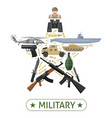 military equipment design vector image vector image