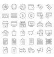 online shopping line style icon set editable vector image