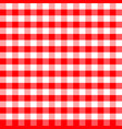 red and white plaids seamless pattern checkered vector image vector image
