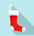 red sock icon flat style vector image