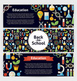 School Science and Education Template Banners Set vector image