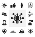 set of 12 editable job icons includes symbols vector image