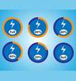 set of energy quantity indicators icons vector image vector image