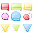 Set of glass style speech bubbles vector image vector image