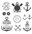 Set of nautical labels icons and design elements