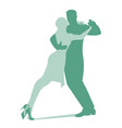 silhouettes of couple dancing passionate vector image vector image