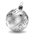 silver christmas ball vector image vector image